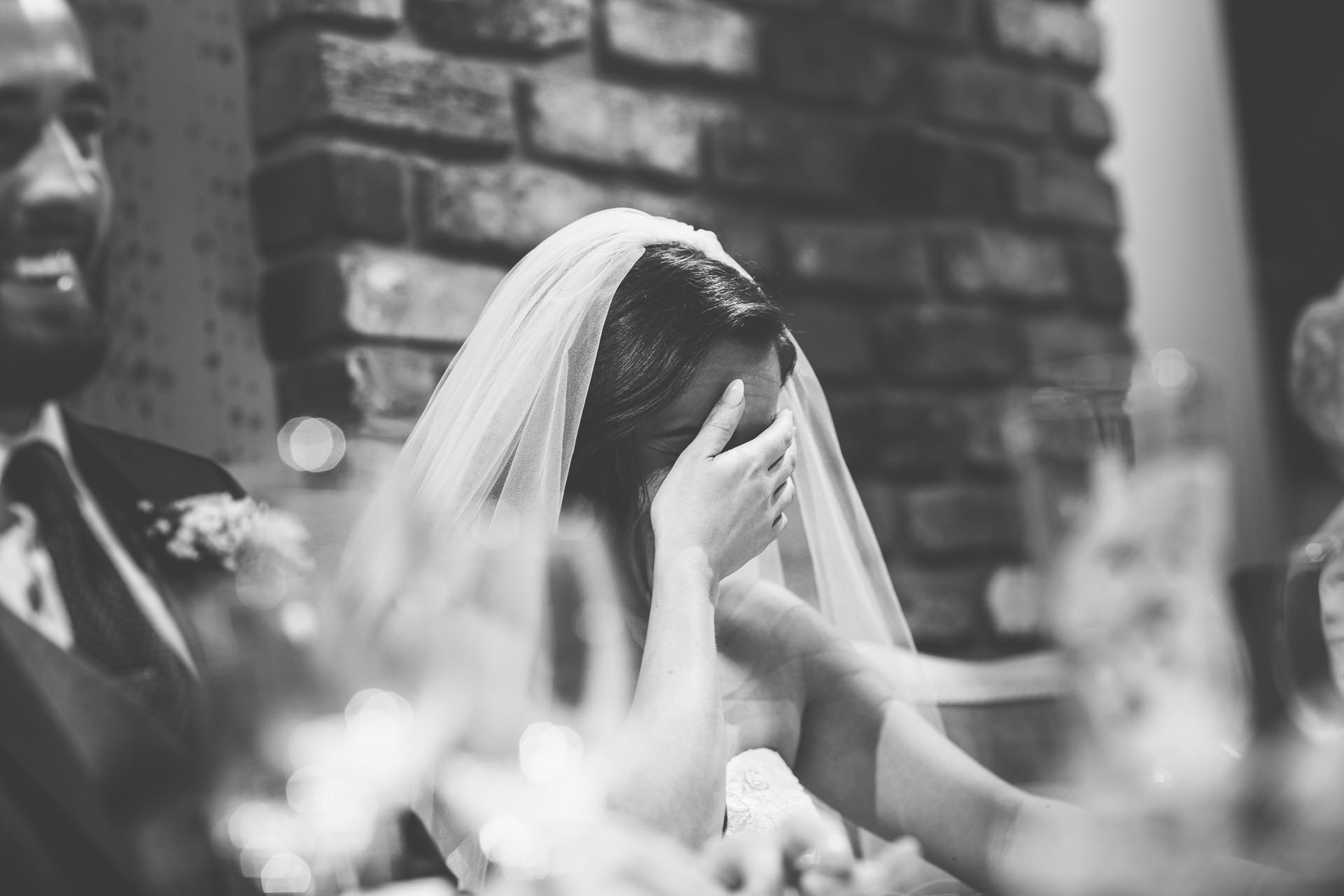 Best wedding photography 2016 - bride emotional at speeches