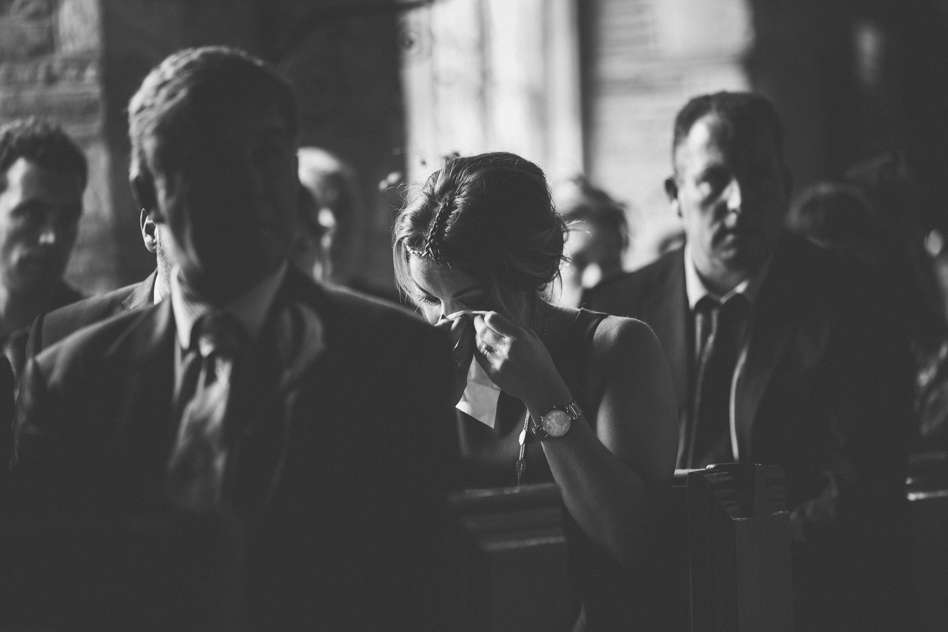 Best wedding photography 2016 - guests crying in ceremony