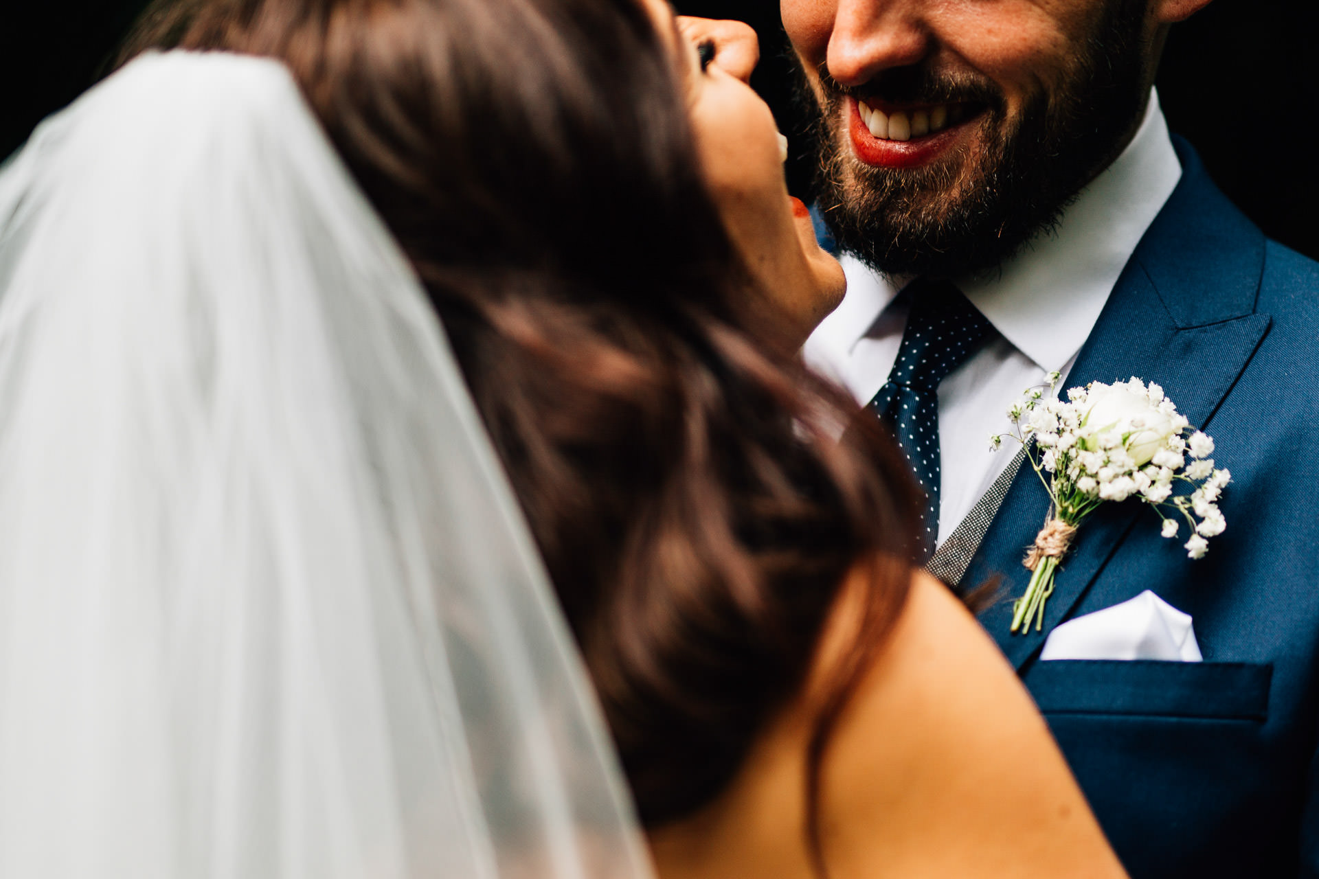 Best wedding photography 2016 - close up of bride and groom kissing