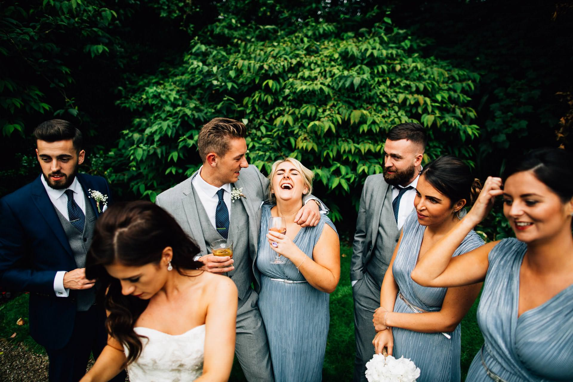Best wedding photography 2016 - bridesmaids drunk and laughing