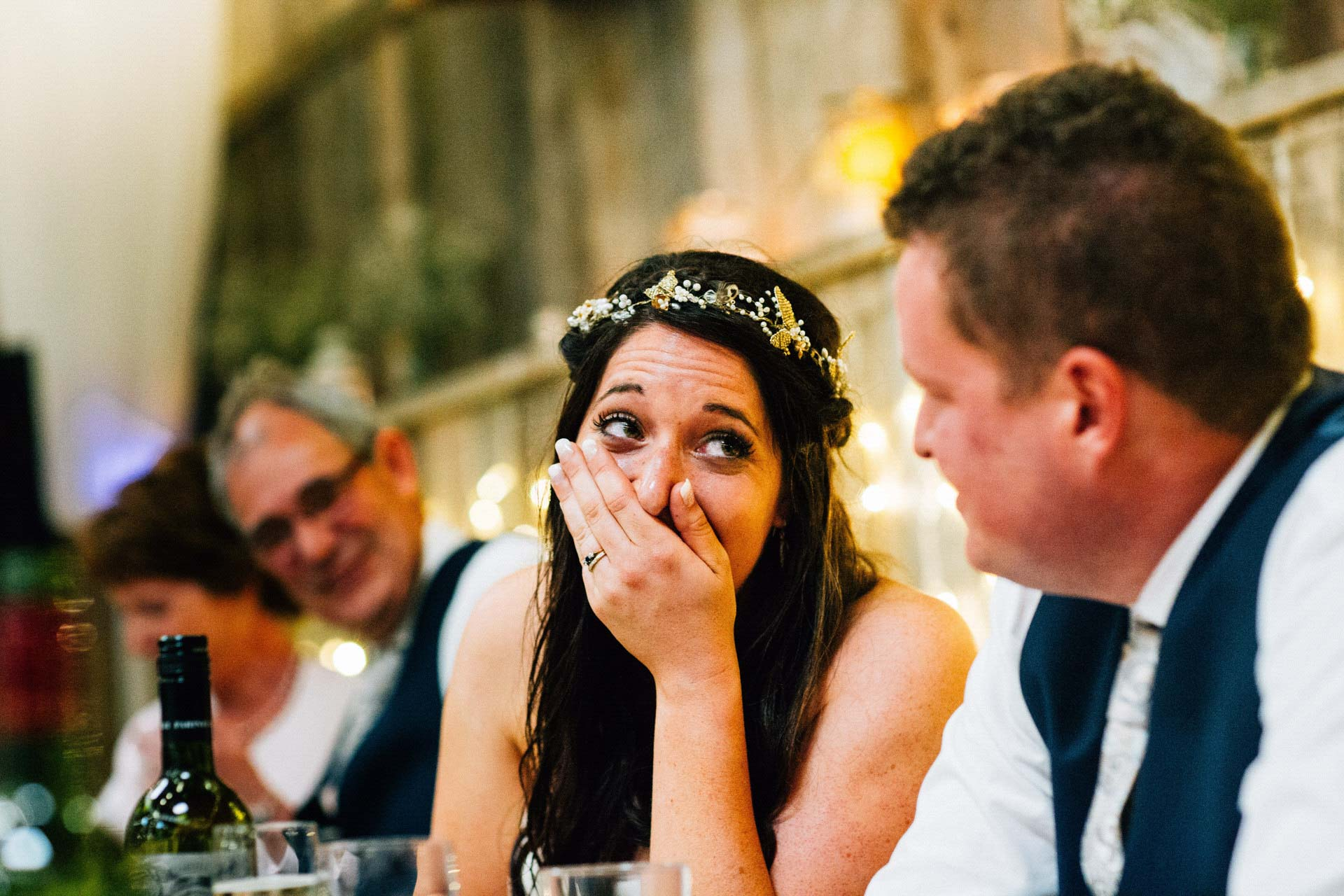Best wedding photography 2016 - bride laughing during speeches
