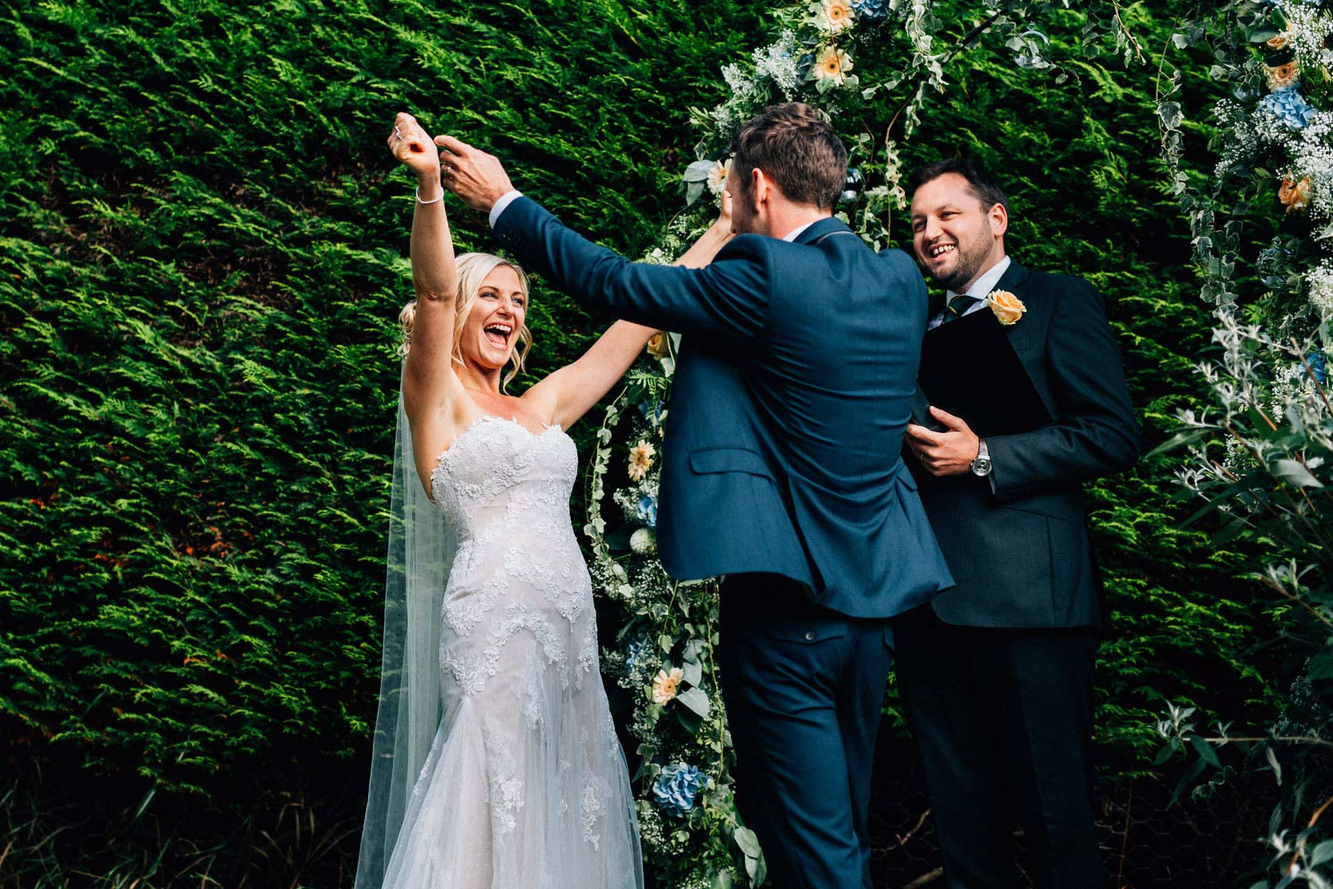 Best wedding photography 2016 - bride and from at end of ceremony