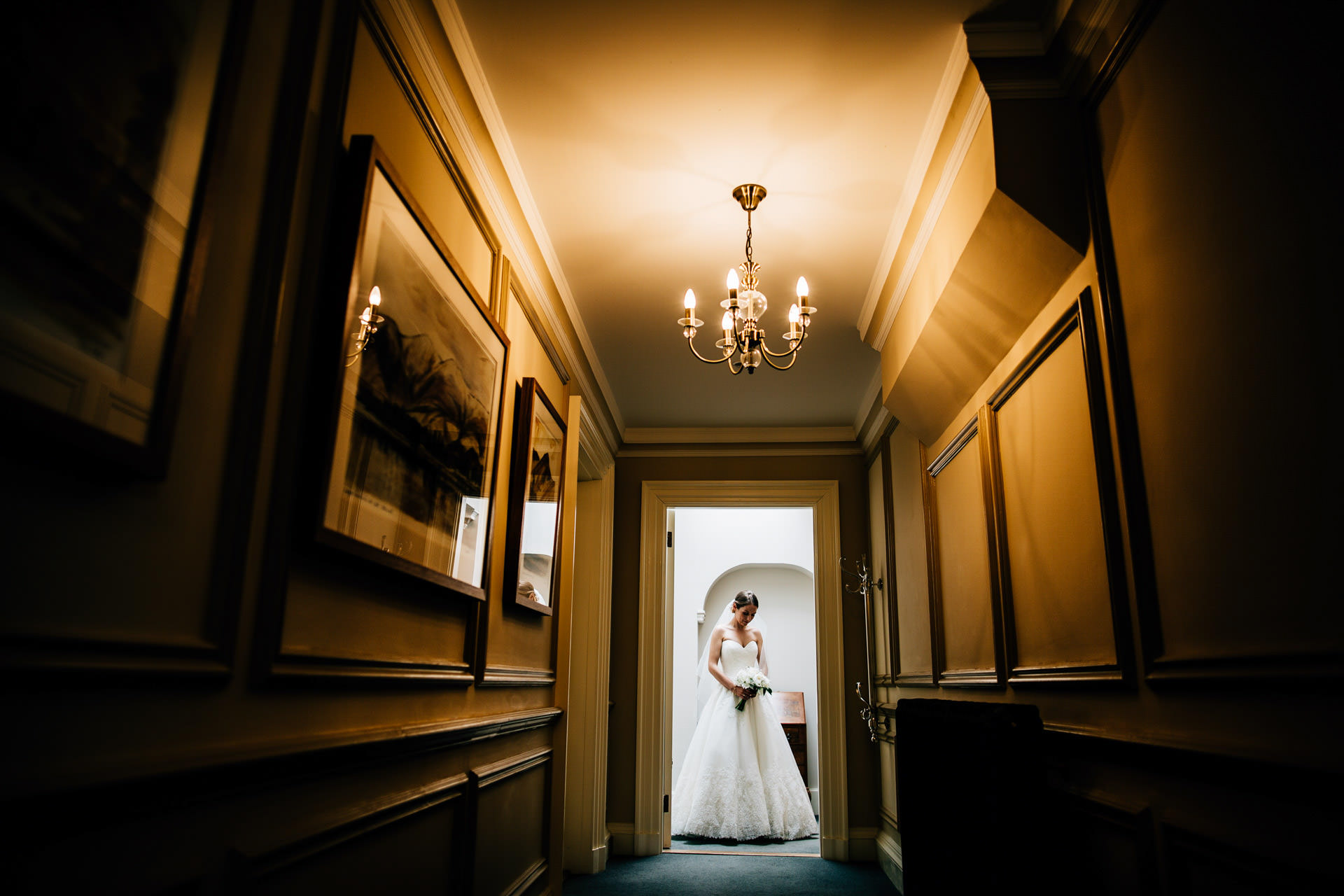 Best wedding photography 2016 - bride at the end of corridor