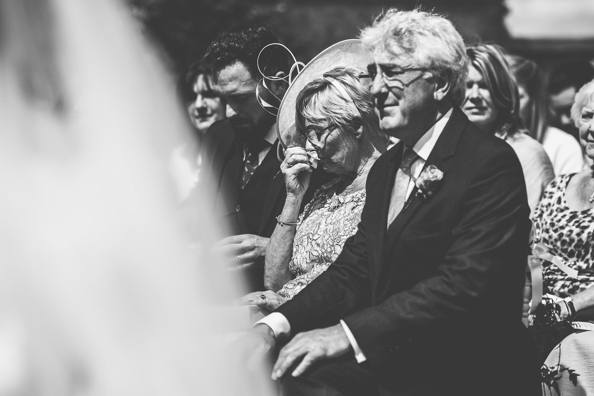 Best wedding photography 2016 - black and white guests during ceremony