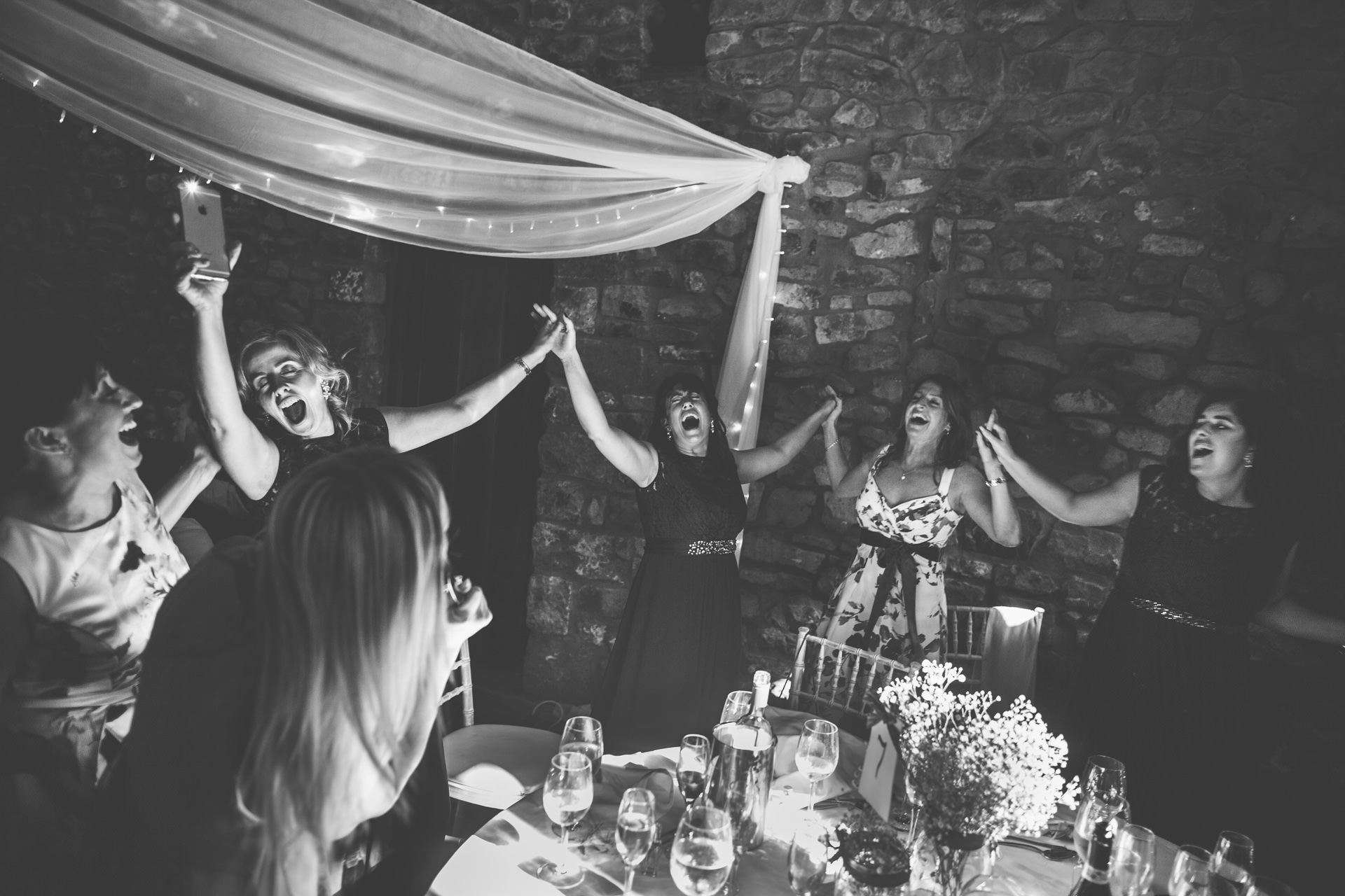 Best wedding photography 2016 - guests going crazy during wedding breakfast