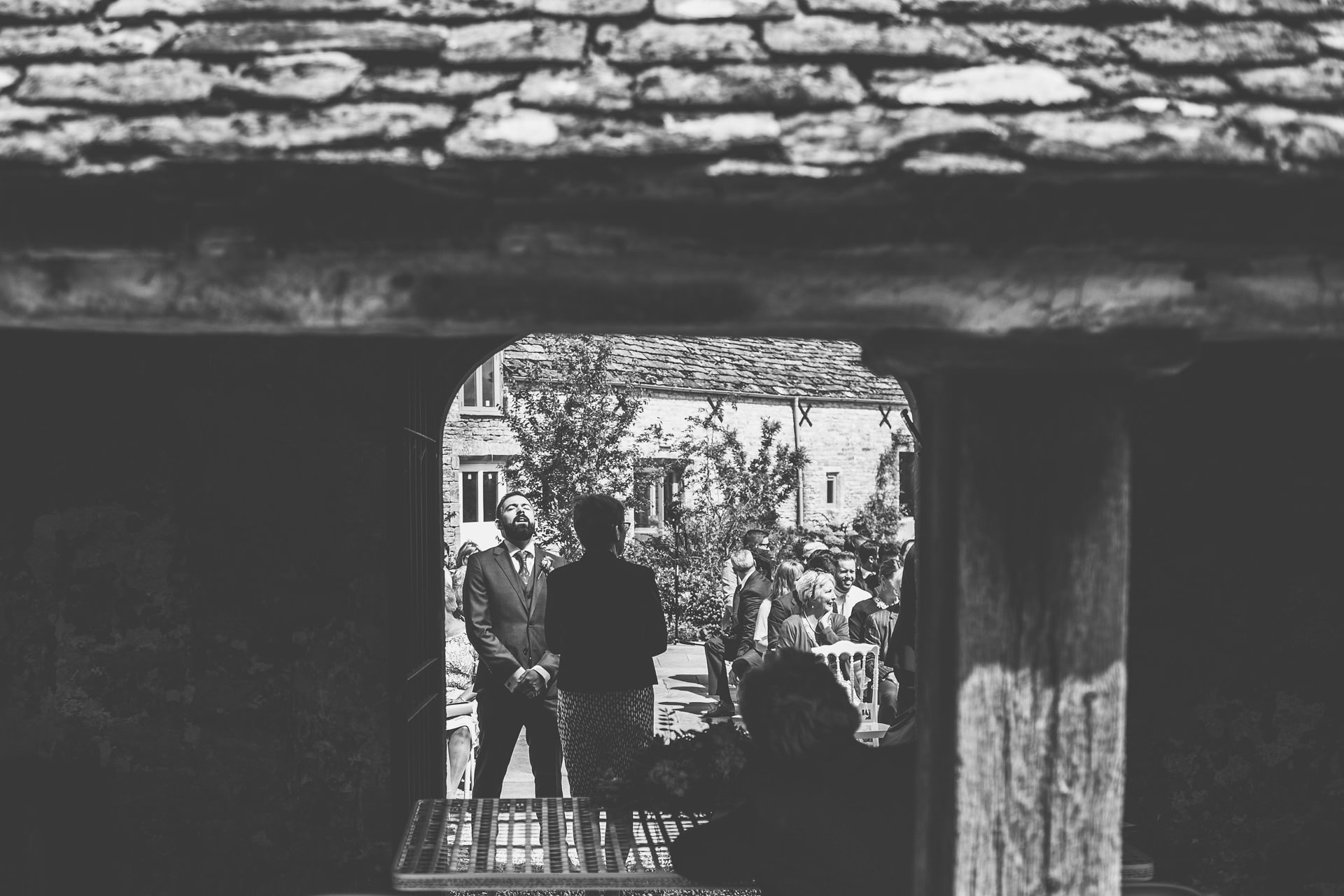 Best wedding photography 2016 - groom waiting for bride to walk down the aisle