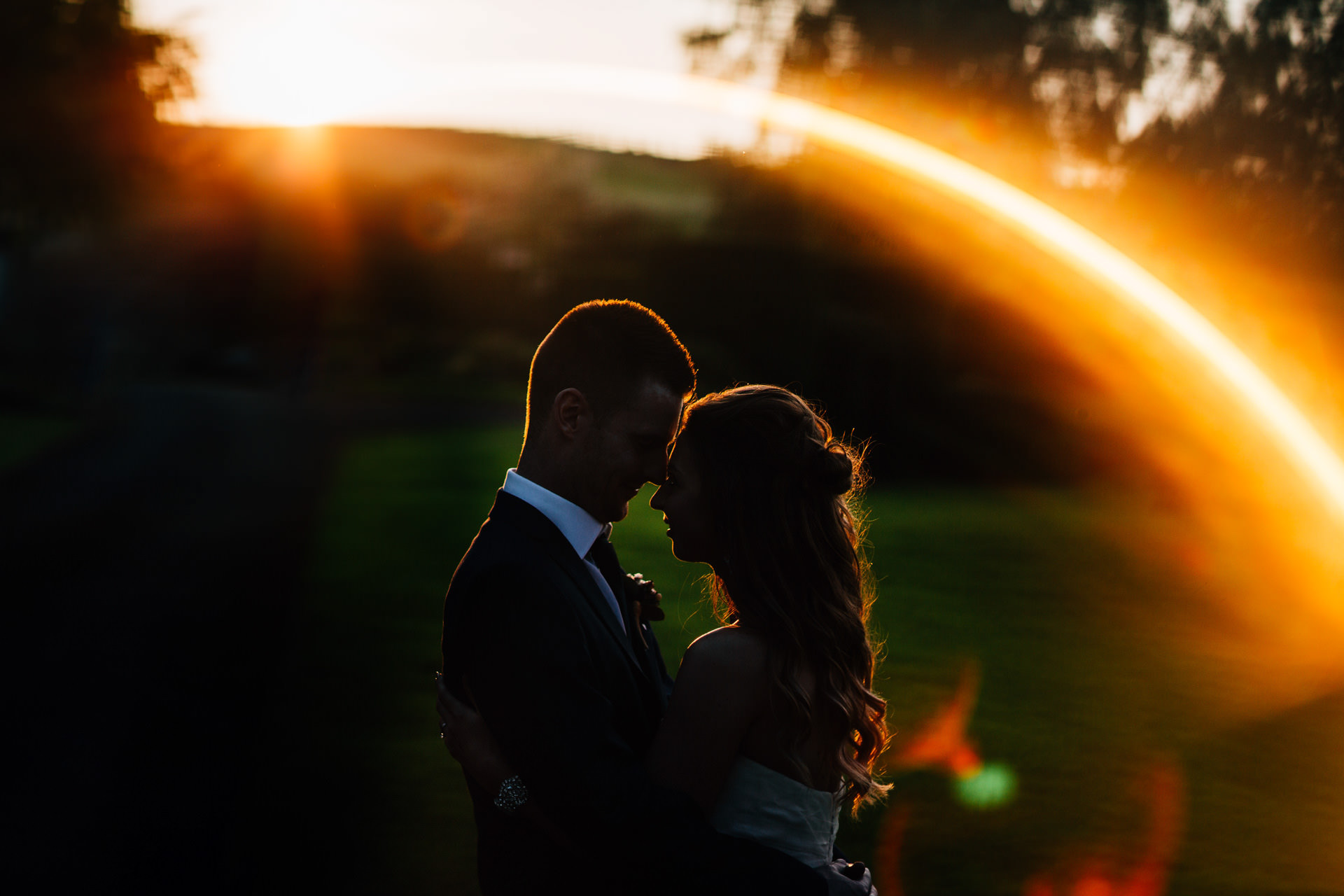 Best wedding photography 2016 - sunset silhouette of couple
