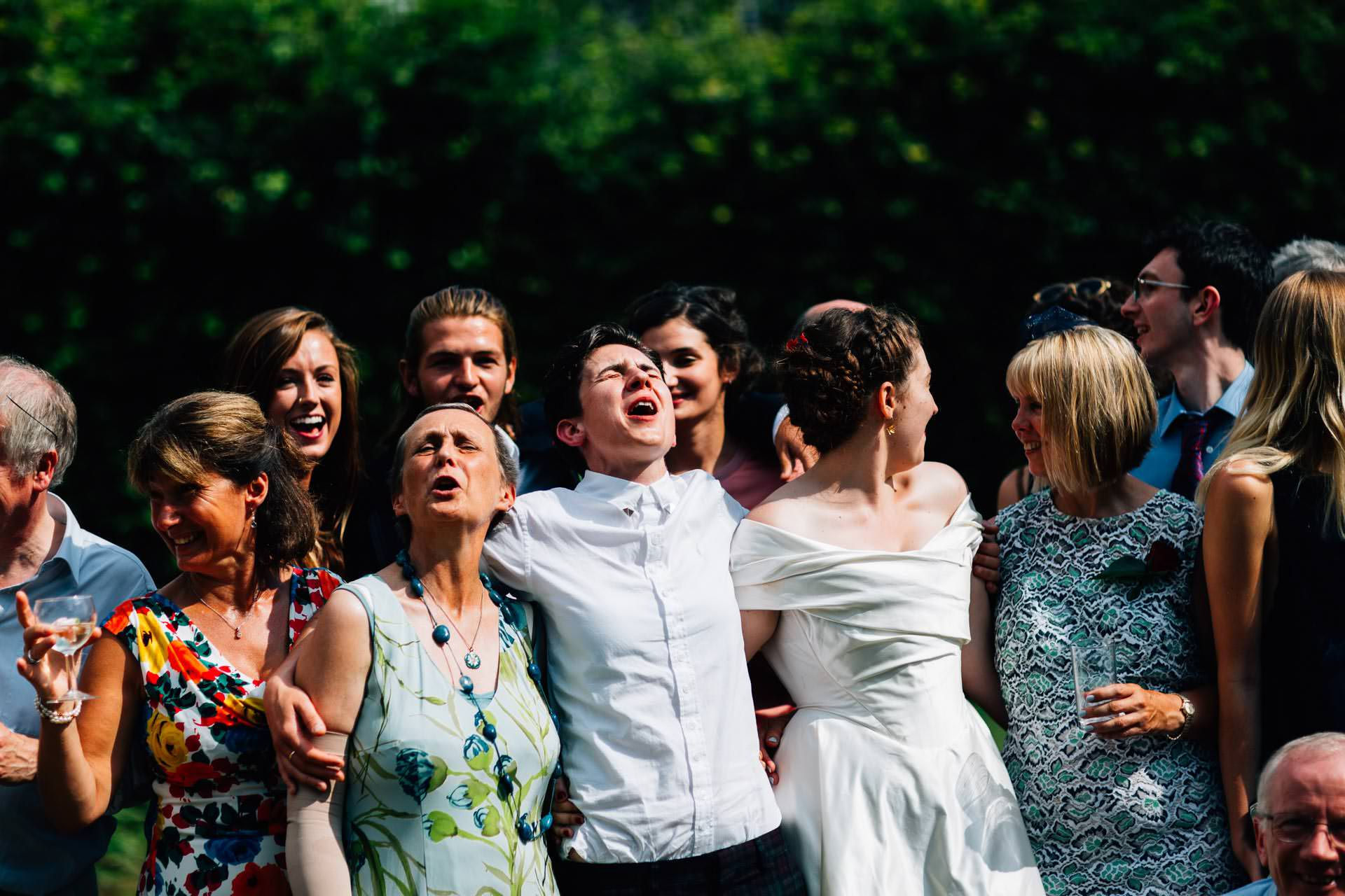 Best wedding photography 2016 - group shot of laughing guests