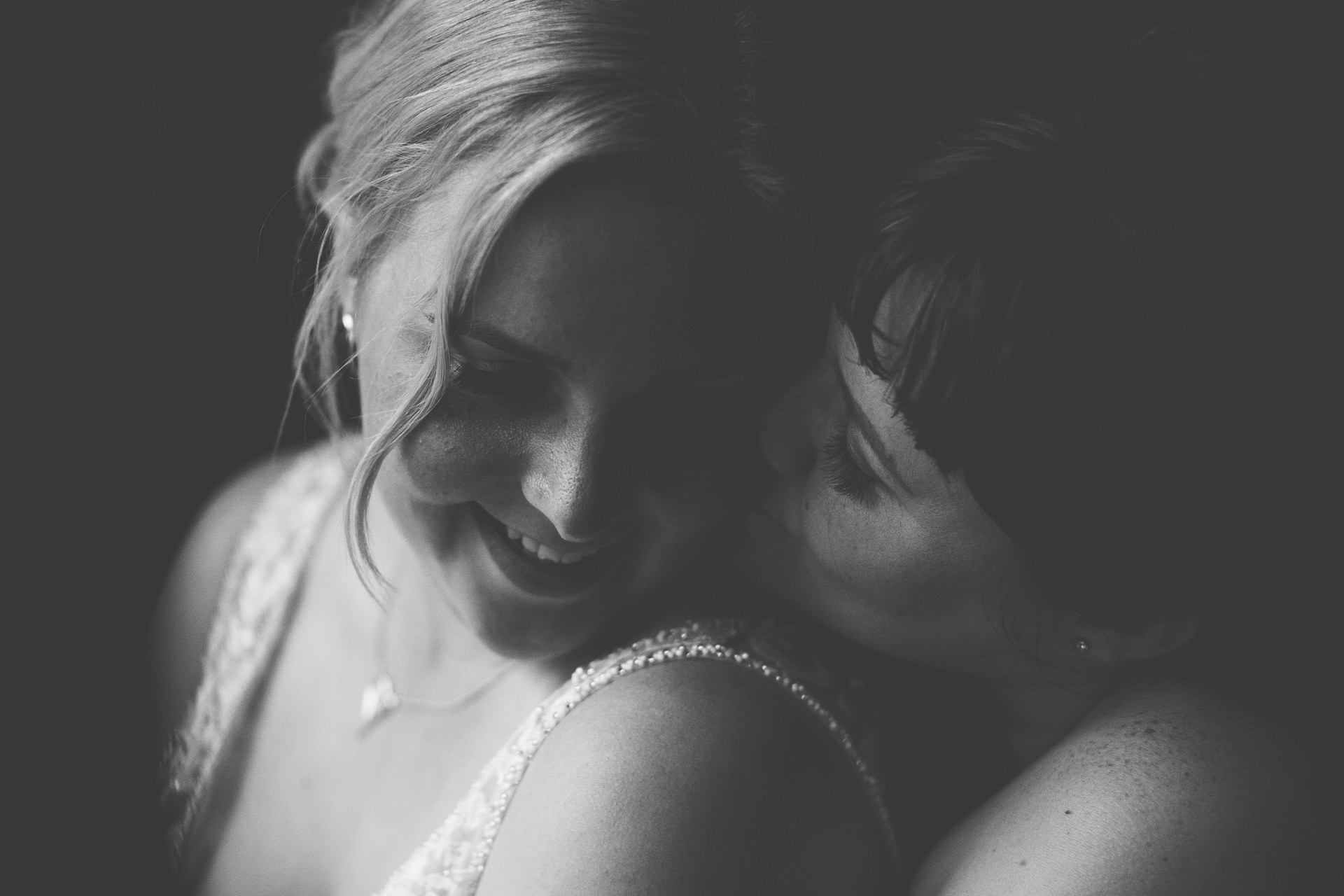 Best wedding photography 2016 - brides embracing at portrait time