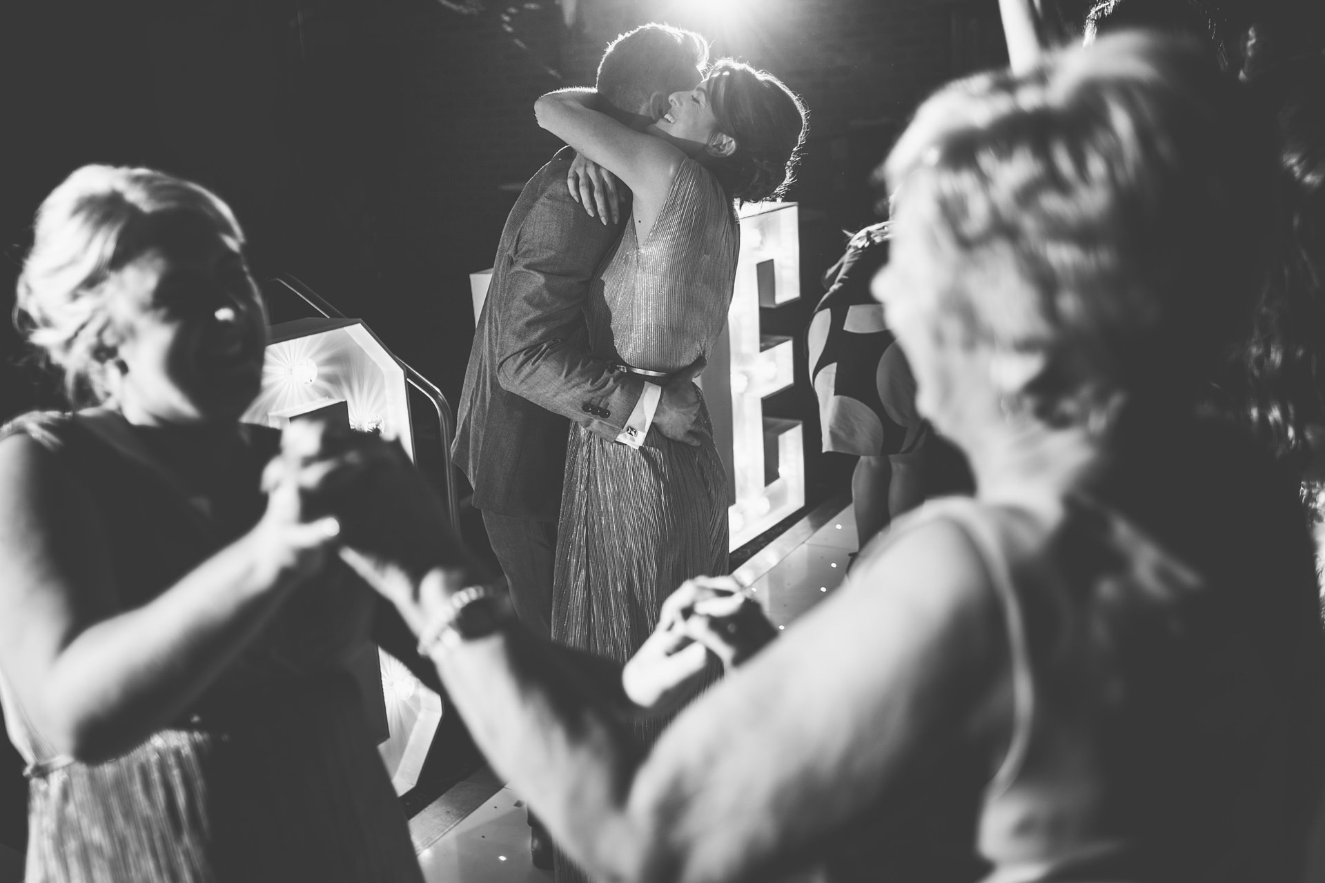 Best wedding photography 2016 - black and white shot of guests dancing