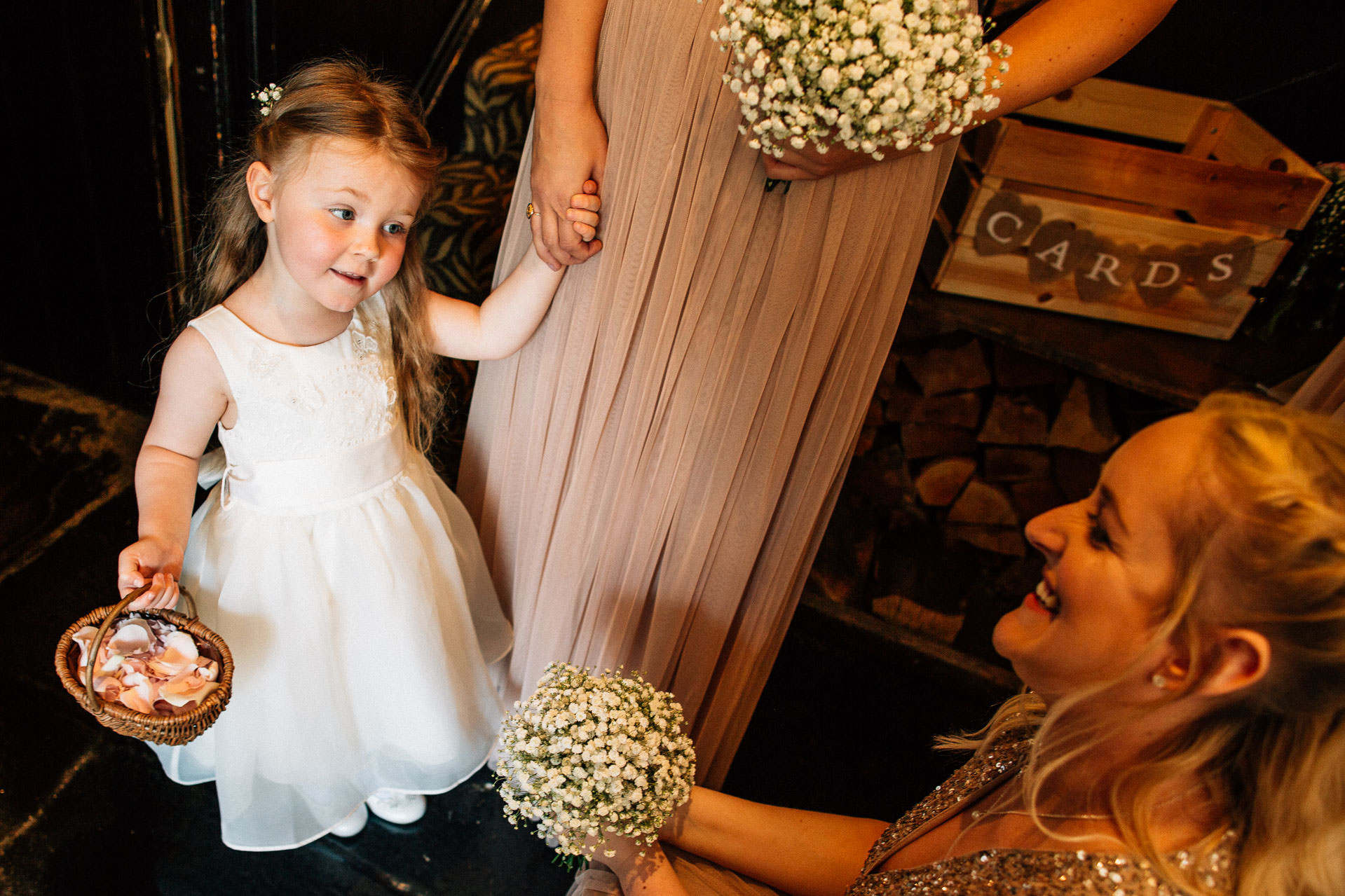 The Wild Boar Wedding Photography - EM - flower girl waiting