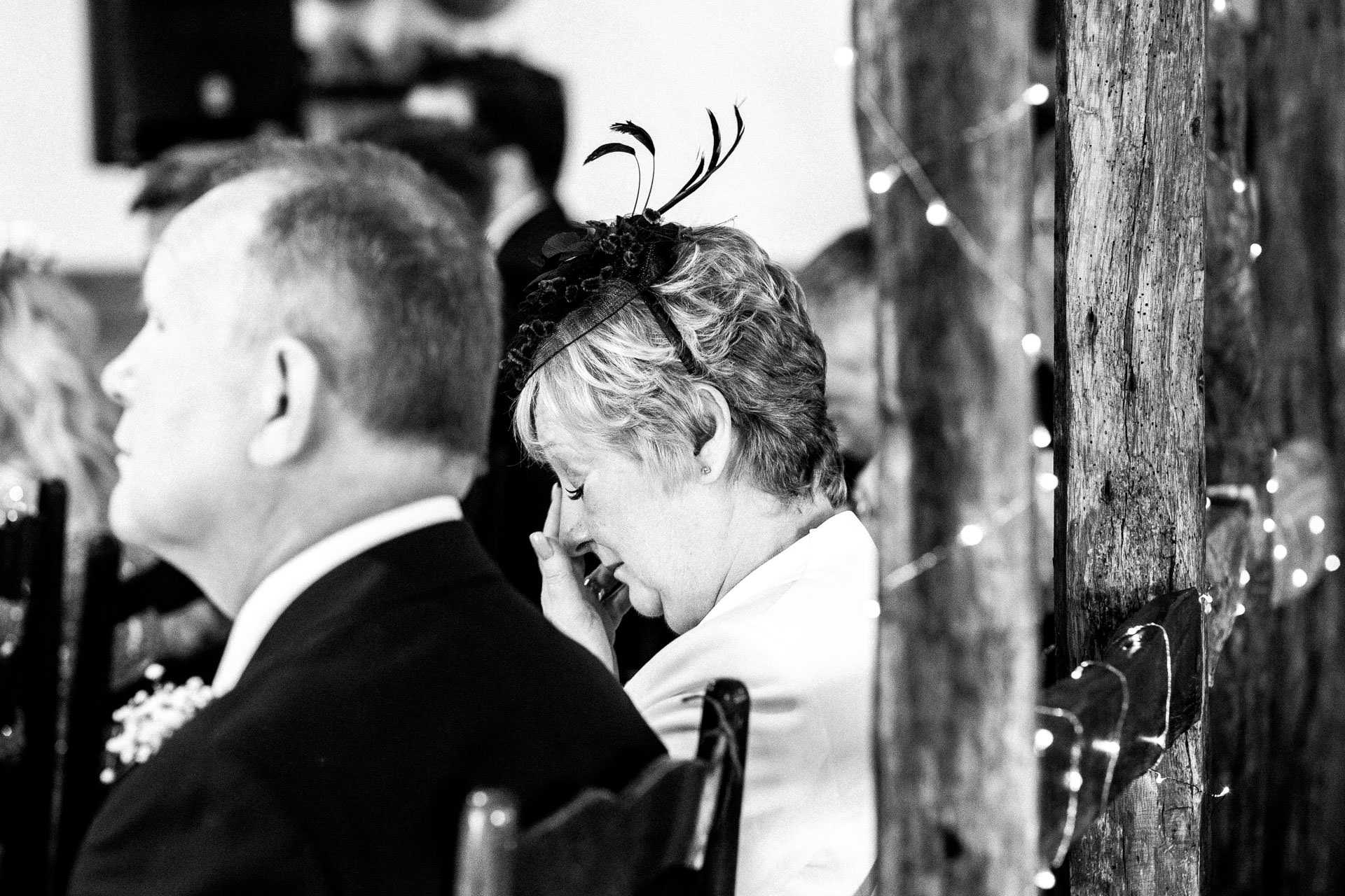 The Wild Boar Wedding Photography - EM - mum crying during ceremony