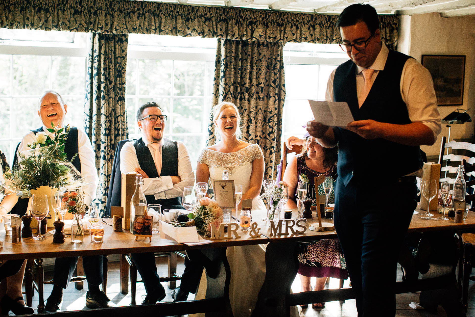 The Wild Boar Wedding Photography - EM - best man making speech