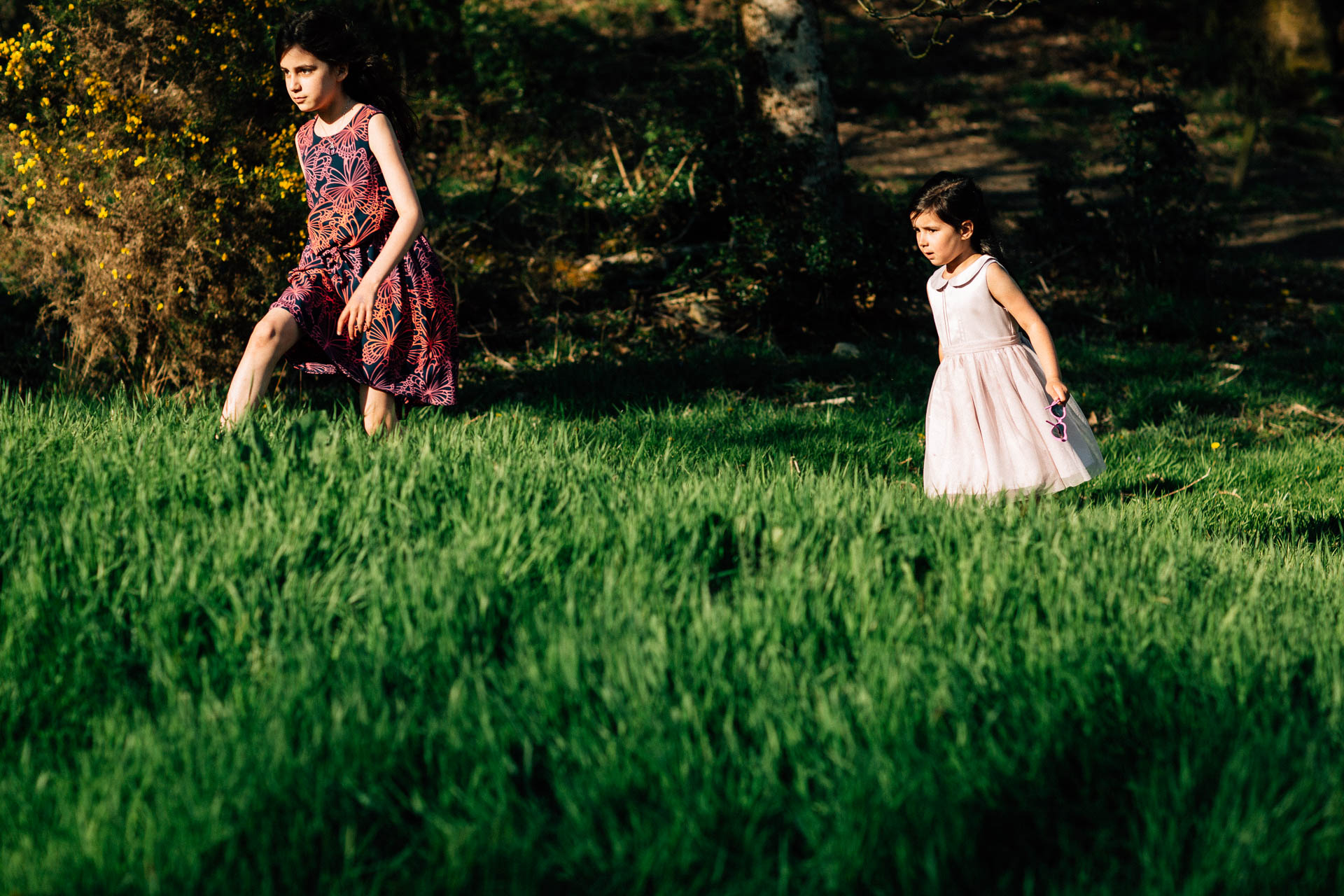 The Wild Boar Wedding Photography - EM - kids playing in field