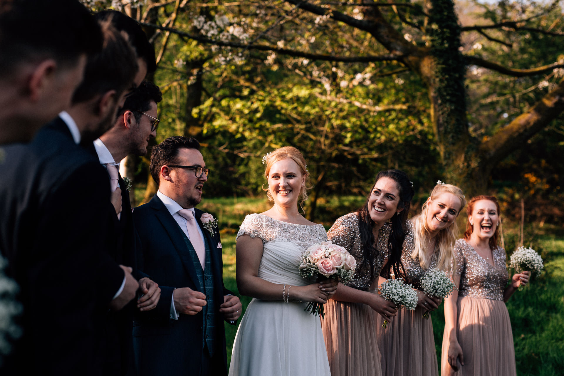 The Wild Boar Wedding Photography - EM - bridesmaids laughing