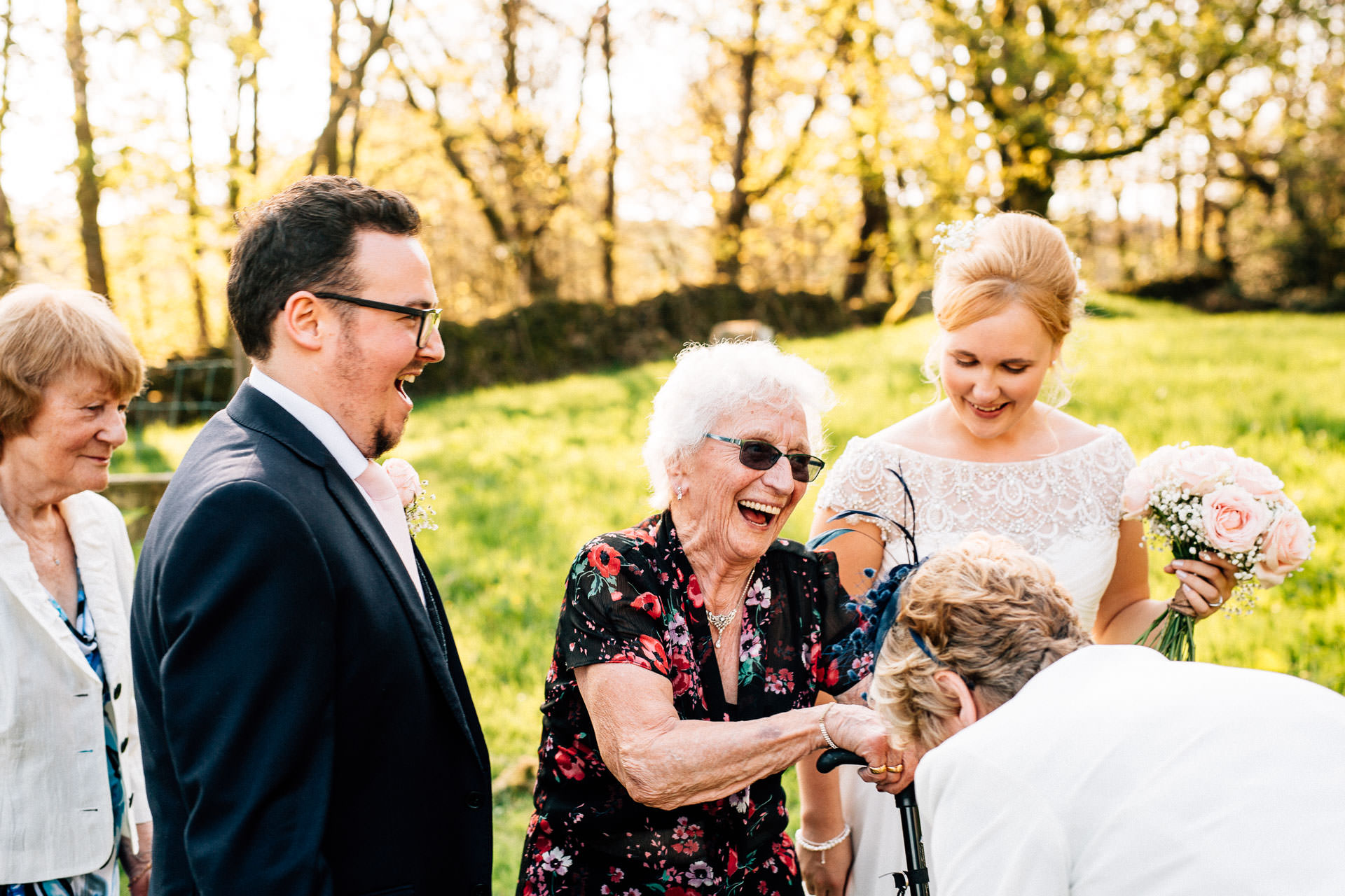 The Wild Boar Wedding Photography - EM - grandma laughing
