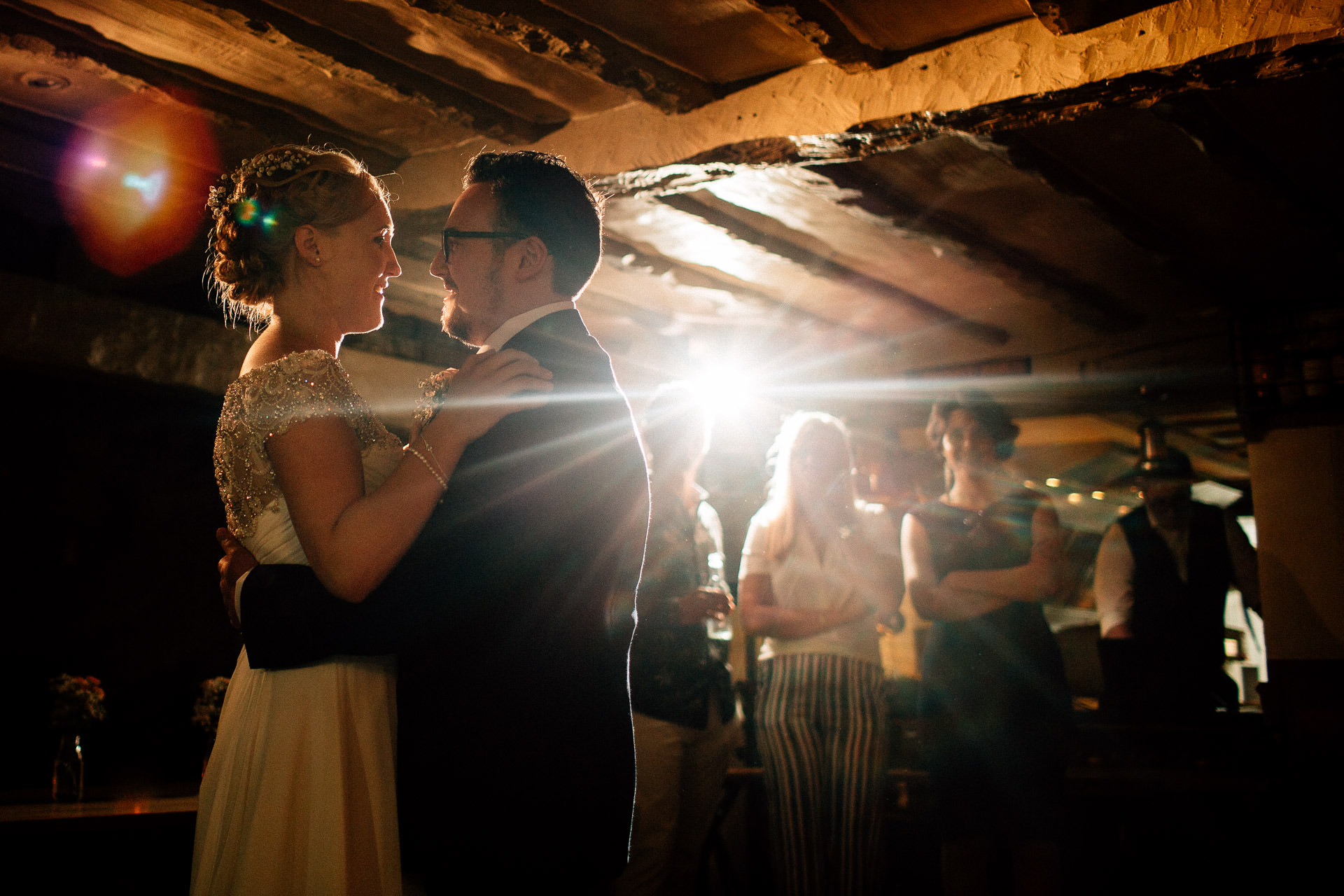The Wild Boar Wedding Photography - EM - close shot of the first dance