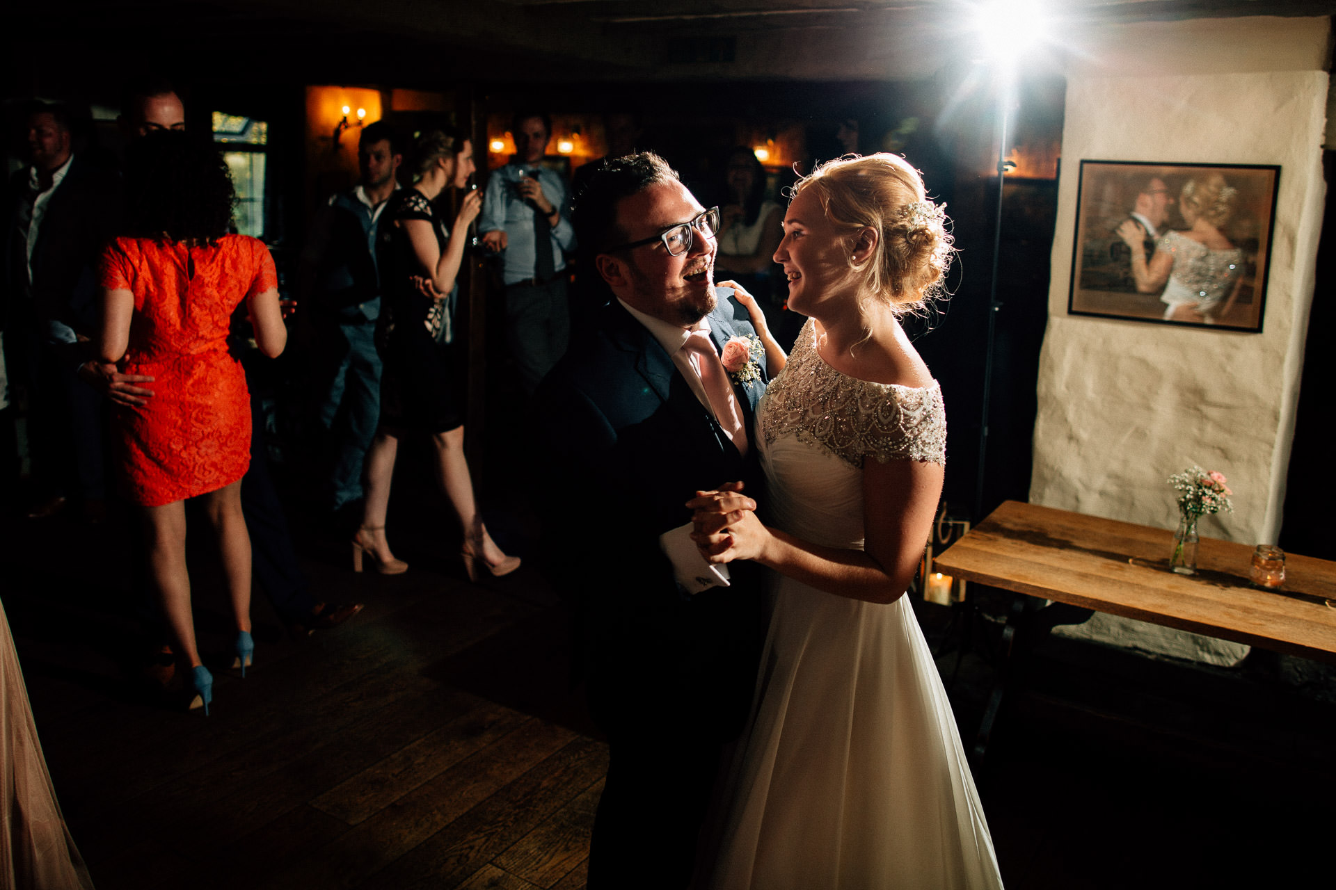 The Wild Boar Wedding Photography - EM - couples first dance - close in