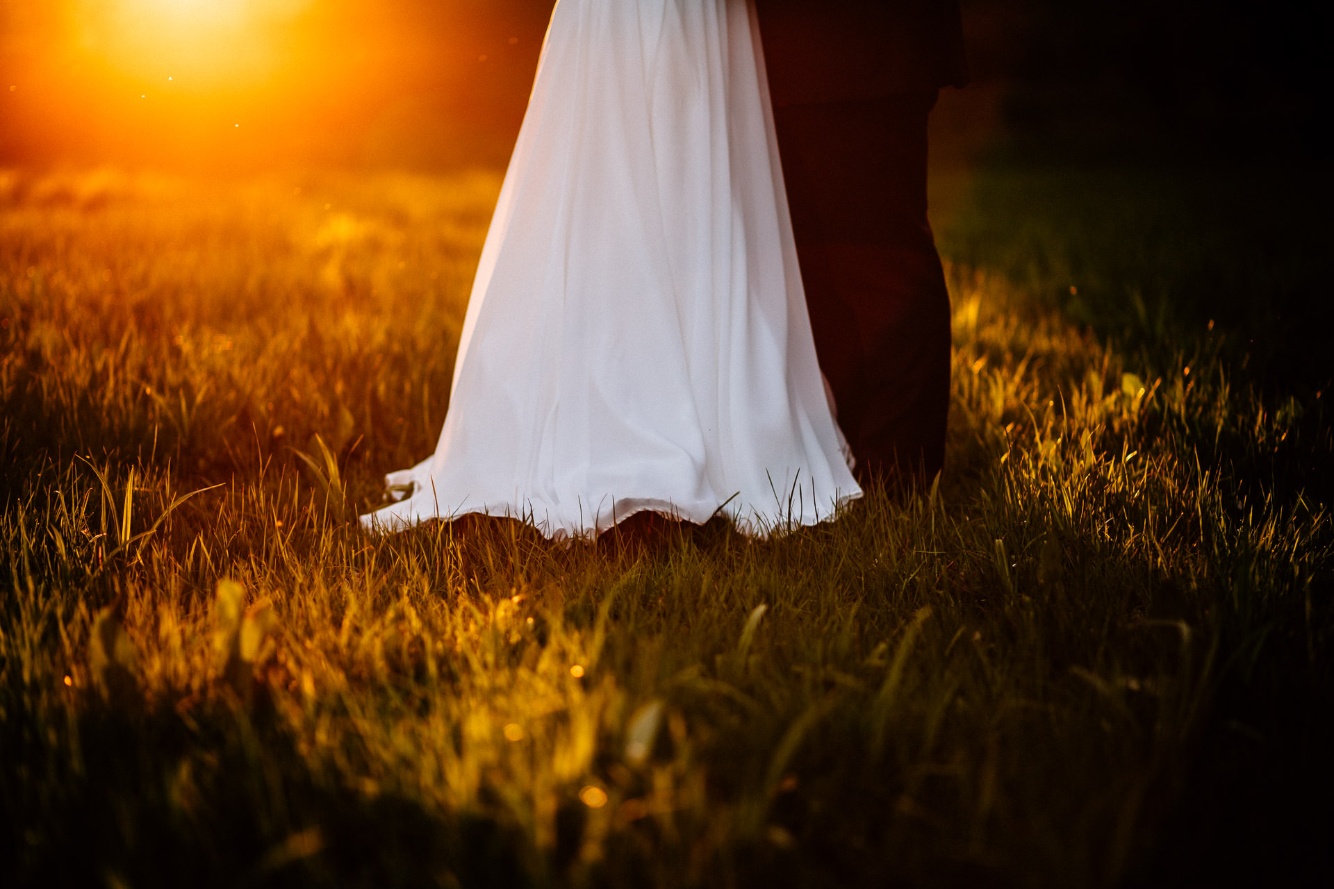 The Wild Boar Wedding Photography - EM - couples feet at sunset